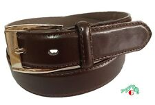 BOYS DRESS  LEATHER BELT Brown  S / M / L / XL $4.95 Free Shipping