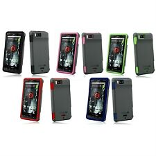 Vertex 3-Layer Phone Cover Case Silicone for Motorola Droid X MB810 + X2 MB870