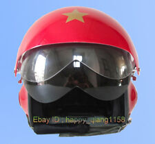TWO Visors & Aviator Fighter Reds Jet Pilot Half Face Casco Moto Moped Helmet
