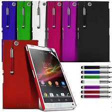 Hard Back Case Cover + Screen Protector+Retractable Pen For Sony Xperia Z Ultra