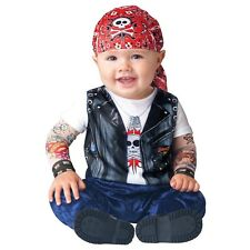 Baby Biker Costume Cute Tough Guy Born To Be Wild Halloween Fancy Dress