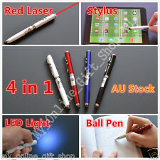 Red Laser Pen LED Light Beam 1mw Pointer Stylus for iPad Touch Tablet 4 in 1 New