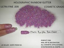 Holographic Rainbow Ultra Fine .008 Cosmetic Glitter   ~Nails~Body~Crafts~
