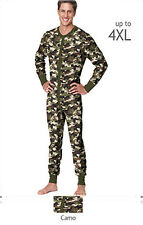 Hanes 3XL, 4XL Mens THERMAL CAMO Union Suit Long Johns Hunting Fishing 14630