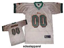 NWT Miami Dolphins #00 NFL Reebok Onfield Mens Replica Away Jersey S-2XL