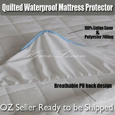 New 100% Cotton Cover Quilted Waterproof Mattress Protector/Underlay-All Size