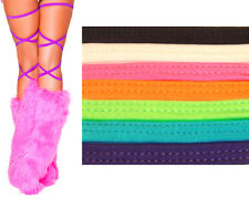 "100"" Solid Color Thigh High Leg Wraps String Dance Rave Club Wear Costume 3021"