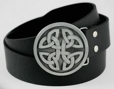 Gothic Pattern Round Knot Shield Celtic Cowboys Cowgirls Leather Belt Buckle NEW