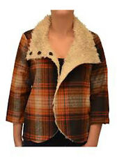 "BILLABONG SHADE OF LOVE HENNA BROWN/ORANGE/PLAID WOMENS JACKET COAT ""U PIC SIZE"""