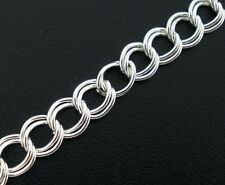 Wholesale Mixed Lots Silver Plated Double Loops Link Chains Findings