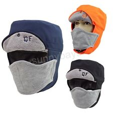 Men Women Winter Trapper Trooper Hat Cap Mask Outdoor Snow Ski Cycling Bicycle