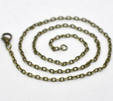 Wholesale Lots Bronze Tone Textured Chain Necklace 0.6mm thick 18""