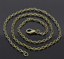 Wholesale Lots Bronze Tone Lobster Clasp Link Chain Necklaces 18""