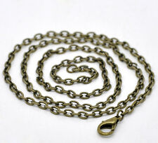 """Wholesale Lots Bronze Plated Lobster Clasp Link Chain Necklaces 20"""""""