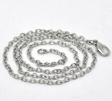 Wholesale Lots Silver Tone Lobster Clasp Link Chain Necklaces 18""