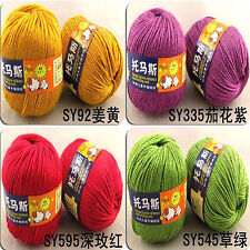 New Worsted Silk Wool Fiber Cashmere Warm Soft Baby Yarn Knitting 50g