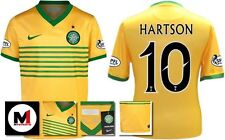 *13 / 14 - NIKE ; CELTIC AWAY SHIRT SS + ARM PATCHES / HARTSON 10 = KIDS SIZE*