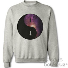 YING YANG GALAXY CROSS HIPSTER HYPE SPACE SWEATER JUMPER SWEATSHIRT SIGN PEACE T