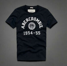 BNWT Mens Abercrombie & Fitch A&F Logo T Shirt in Navy & White - S M L XL XXL
