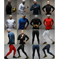 Mens Thermal Compression Under Base Layer Layers Top Tights Leggings Underwear