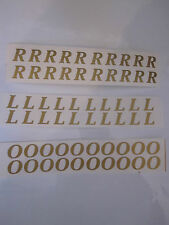 FLORISTS VINYL SELF ADHESIVE SMALL ALPHABET LETTERS .GOLD OR SILVER