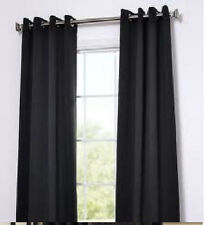 2 panels FAUX SILK BLOCK OUT NOT SEE THROUGH CURTAINS WINDOW GROMMETS not sheer