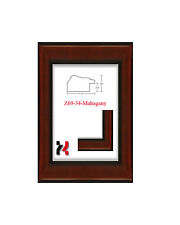 """Picture Frame Mahagony 1 1/2""""  Wide Solid Wood Different Sizes to choice from"""