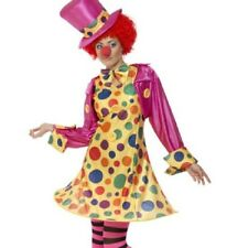 Clown Lady Fancy Dress Costume with Hat Womens Adult Size 8 - 22 WIg & Nose Inc.