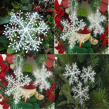 1Set of 3PCS Christmas Decorations Snowflake Hanging For Windows Wall Decor New