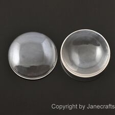 50-500pcs 8-40mm Round Clear Glass Cabochons Transparent Fit Cameo Settings Lot