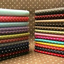 POLKA DOT FABRIC 3MM SPOTS, 100% FINE WEAVE COTTON, 3 SIZES, SHABBY CHIC SPOTTY.