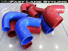 135 DEGREE SILICONE ELBOW REDUCER PIPE RUBBER/COOLANT/HOSE BLUE RED - 135DR
