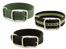 One-Piece Nato Watch Strap Band Military Army Nylon Diver MoD G10 Mens SS Buckle