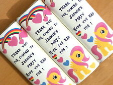 Personalised Chocolate Wrappers - Party Bag Table Favour - Cute Little Pony D2