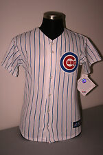 CHICAGO CUBS YOUTH HOME PIN STRIPE JERSEY by MAJESTIC - NWT - LICENSED