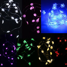 7ft 2m 20LED Copper Wire Light Starry Flower Snow Chirstmas Tree Battery String