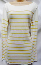 BNWT NEXT new Ladies nautical stripe yellow  THIN SOFT  knit jumper tunic Sizes