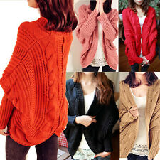 Casual Women Batwing Loose Knit Sweater Shawl Cardigan Coat Jacket Tops Outwear