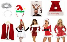 Miss Santa Christmas fancy dress Costume Deluxe Costume Mrs claus xmas hooded