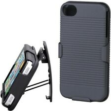 iPHONE 5S 5 BLACK HARD SHELL COMBO CARRY CASE BELT CLIP HOLSTER COVER KICKSTAND