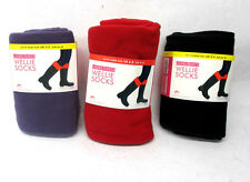LADIES ANUCCI SK205 FLEECE WELLINGTON WELLIE SOCKS TWO SIZES, BLACK,RED,PURPLE