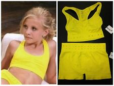 Seamless Yellow Rhinestone Bra Top & Shorts- PAIGE Outfit-As seen on Dance Moms!