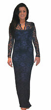 John Zack Long Maxi Stretch Lace Evening Party Formal Dress Many Colours 6 - 20