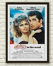 Vintage Grease John Travolta Movie Film Poster Print Picture A3 A4