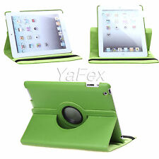 For Apple iPad 2 3 4 Swivel 360° Rotatable Smart Faux Leather Cases Covers Skins