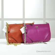 Coach 48669 Madison Leather Large Chain Wristlet Persimmon Magenta