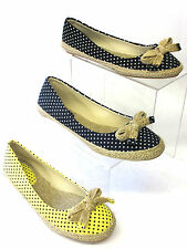 SALE LADIES SPOT ON CANVAS PUMPS F2200 BLACK, NAVY AND YELLOW ESPADRILLS SHOES