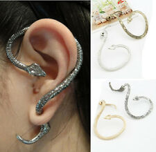Temptation Retro Gothic Punk Snake Serpent Wrap Ear Cuff Stud Earring Piercing