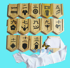 Bleach Shinigami Kimono Cosplay Adjutant Captain 1-13 Wood Armband Free Shipping