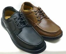 MENS CLARKS BLK,WALNUT LEATHER CASUAL EVERYDAY WEAR LACE UP SHOES LINE DAY FIT H